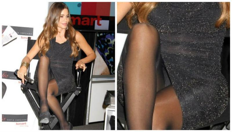Descuidos de mujeres en mini vestidos