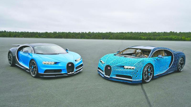Crearon un Bugatti hecho de legos — INCREÍBLE