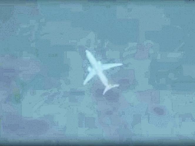 Google Earth capta avión sumergido en Escocia