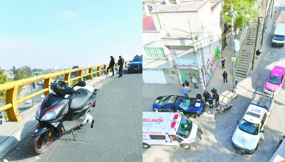 Mujer baleada cae puente CDMX