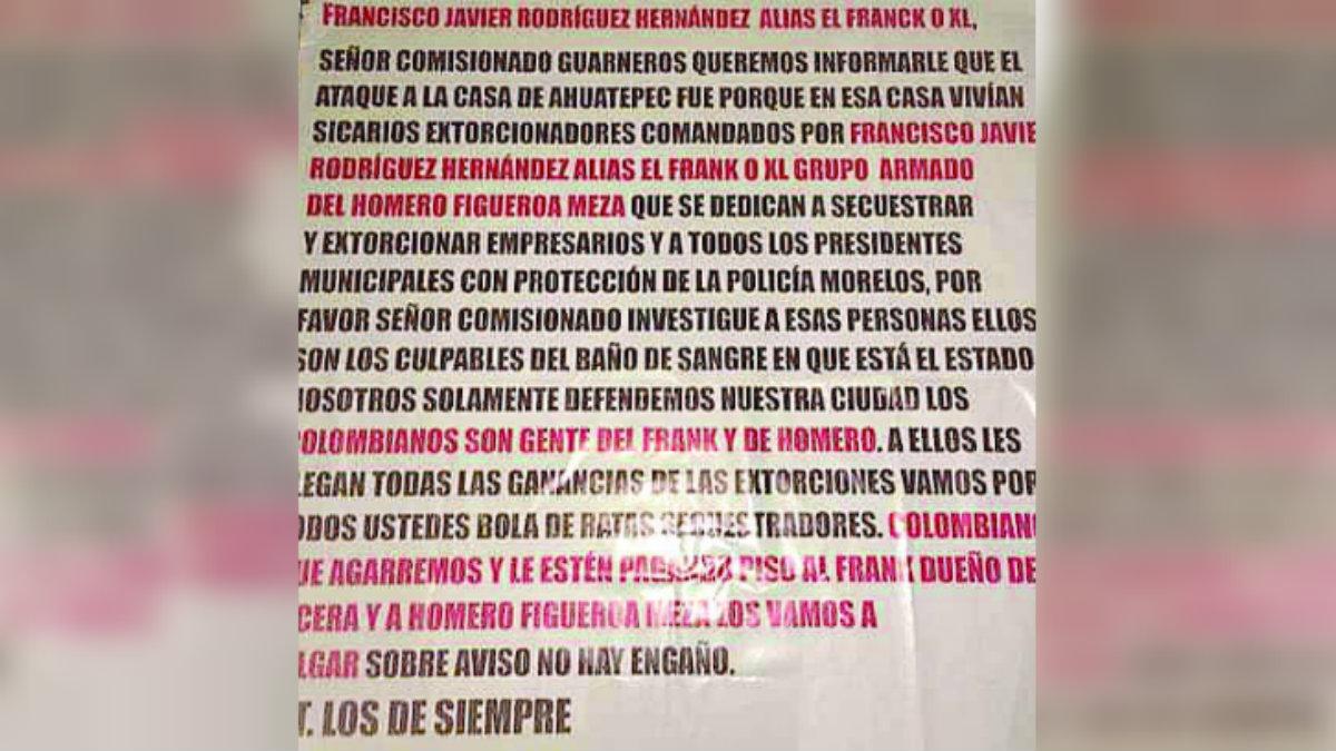 Grupo criminal ataque vivienda Cuernavaca