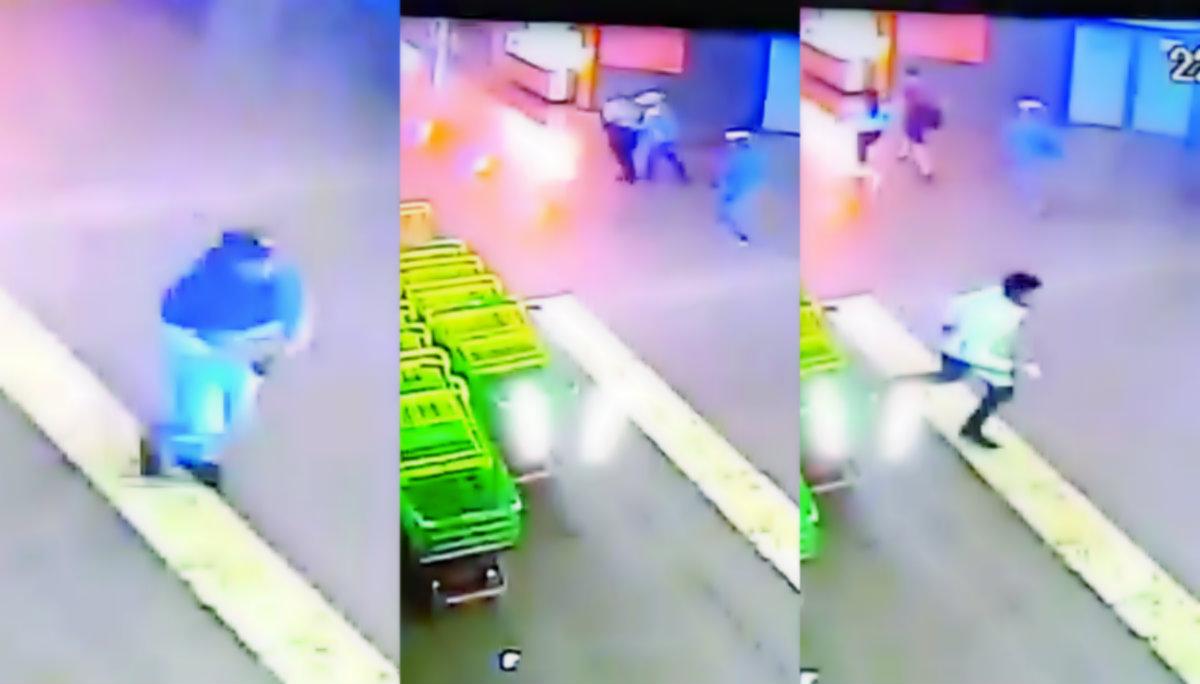 Cámaras captan asalto supermercado Cuernavaca