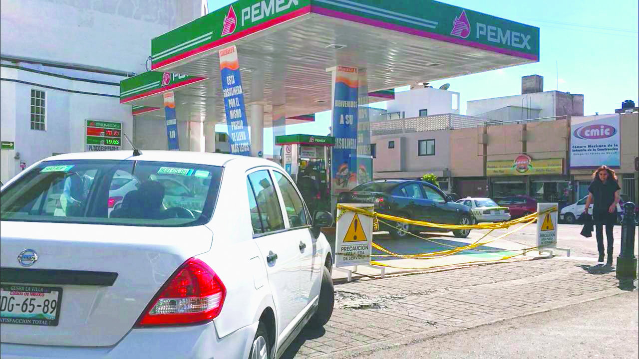 Disminuye crisis desabasto gasolina Valle de Toluca