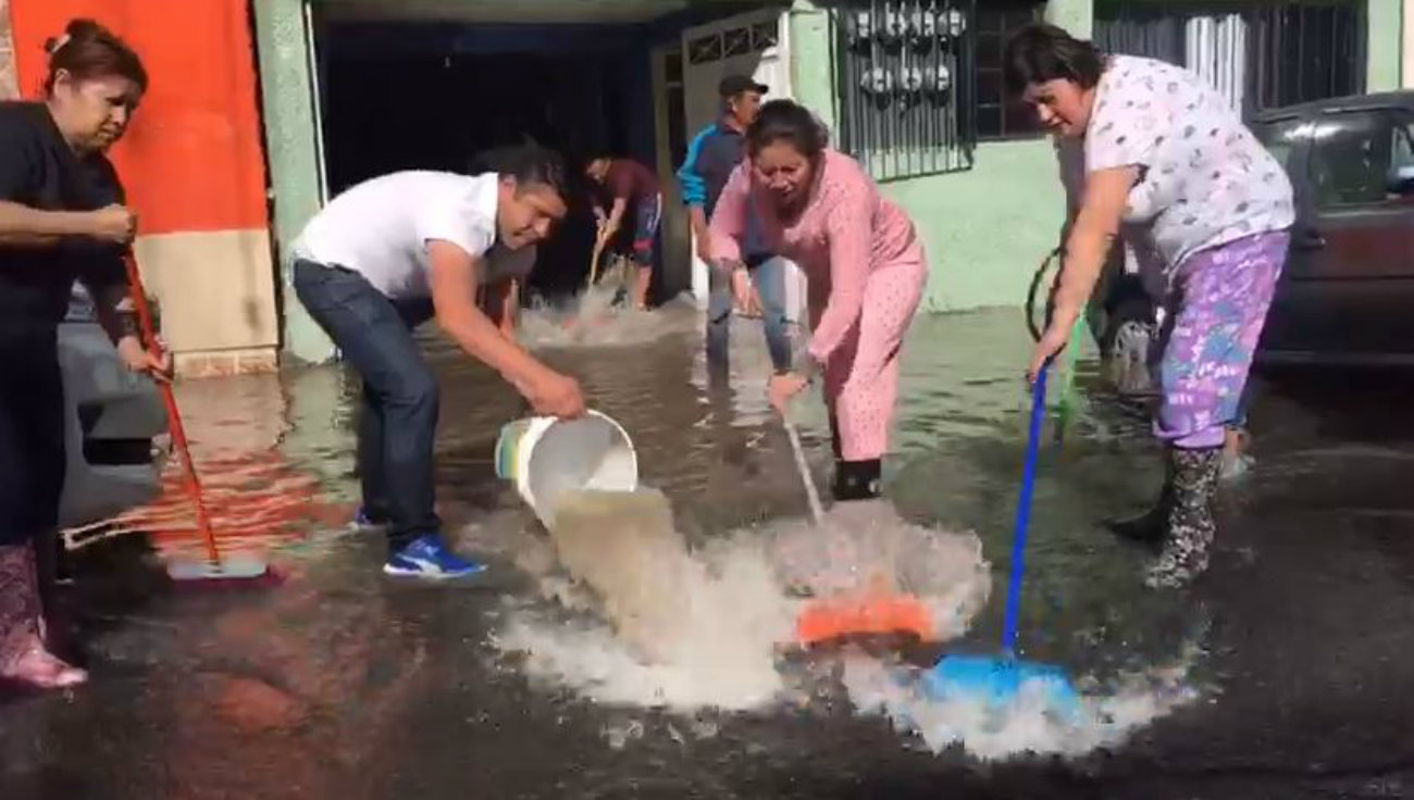 fuga de agua ciudad de mexico