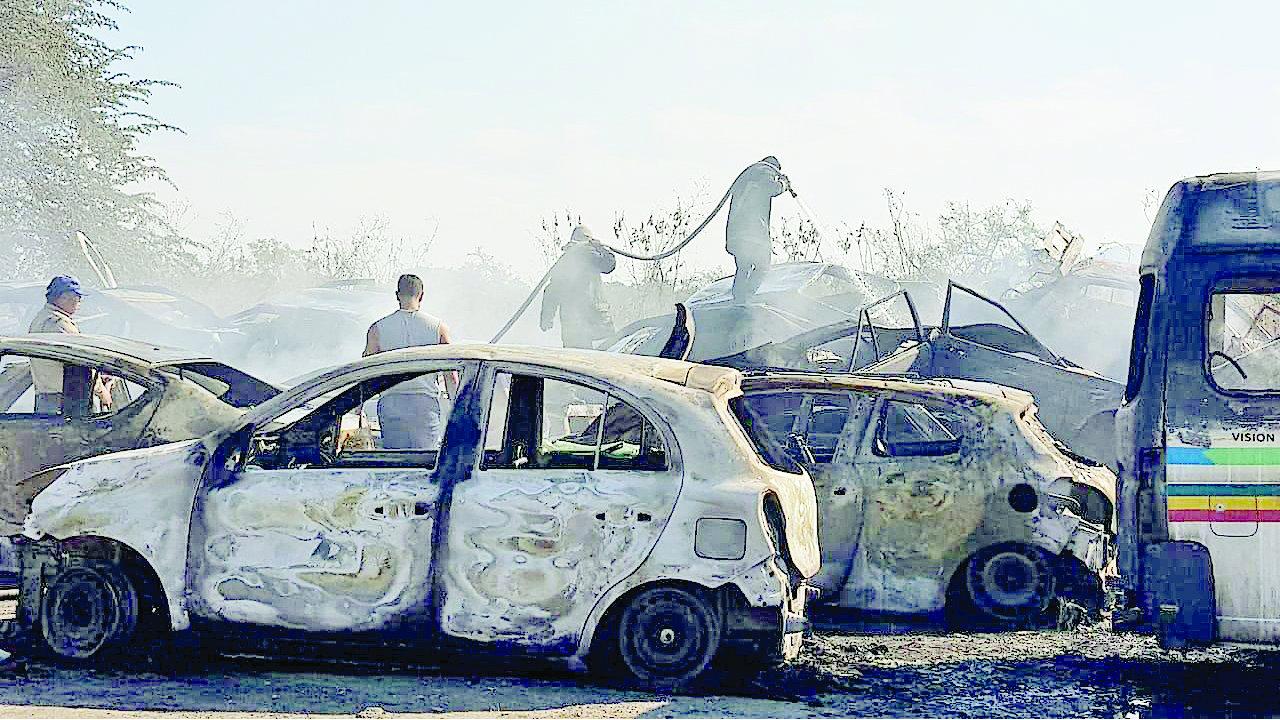incendio devora autos infractores Morelos