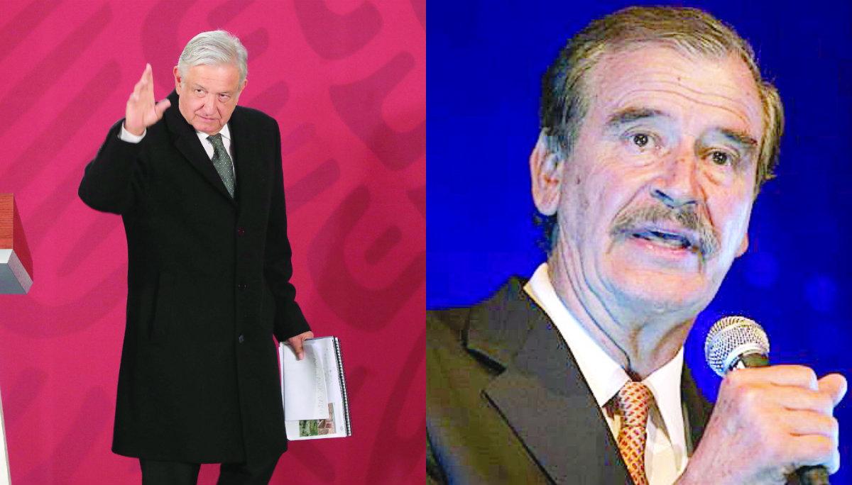 AMLO Vicente Fox riña combate huachicol