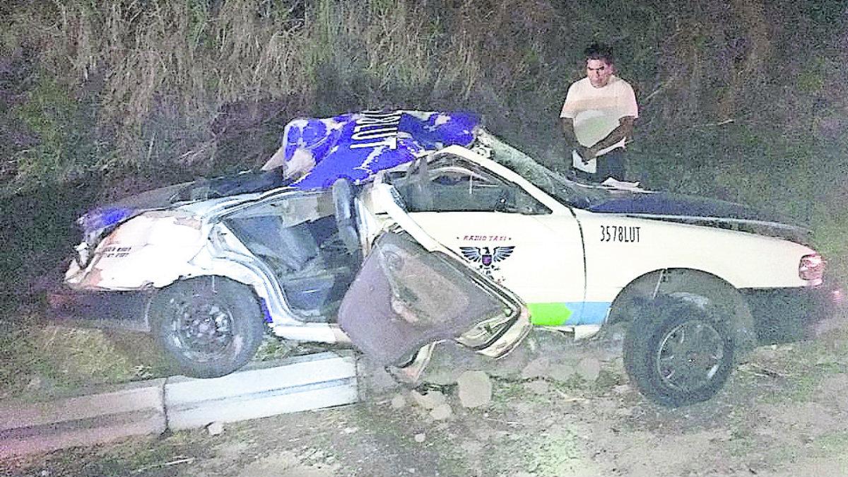 taxista muere choque volcadura
