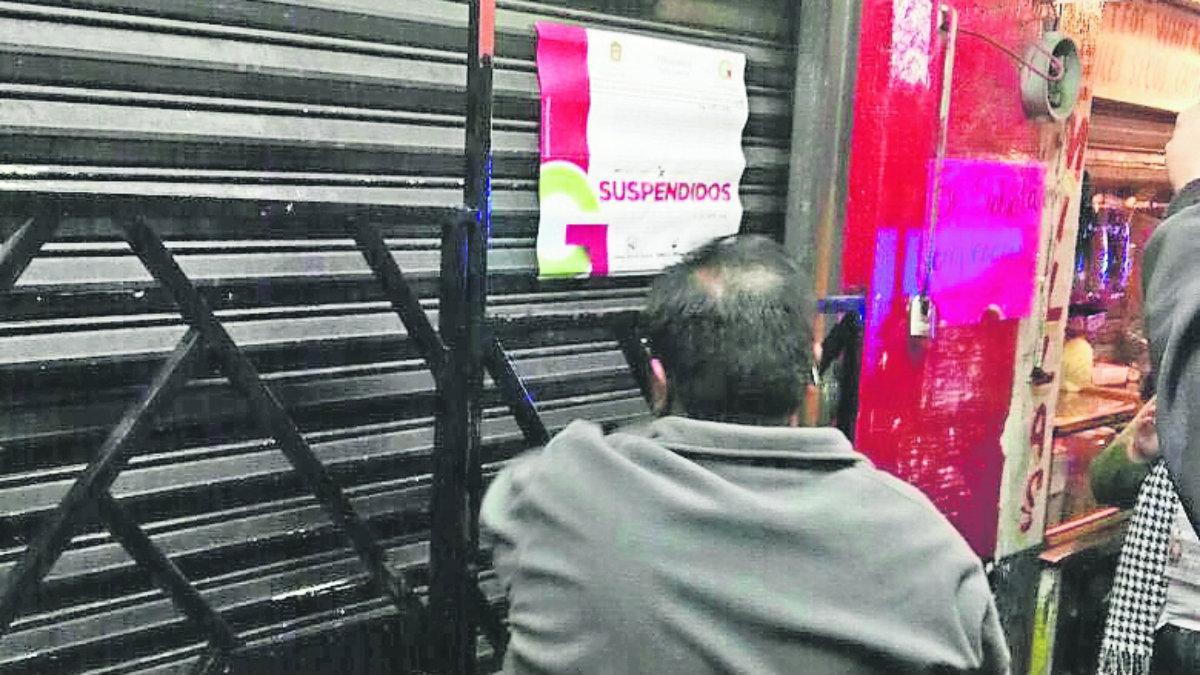 antros clausurados sin permisos Metepec Toluca