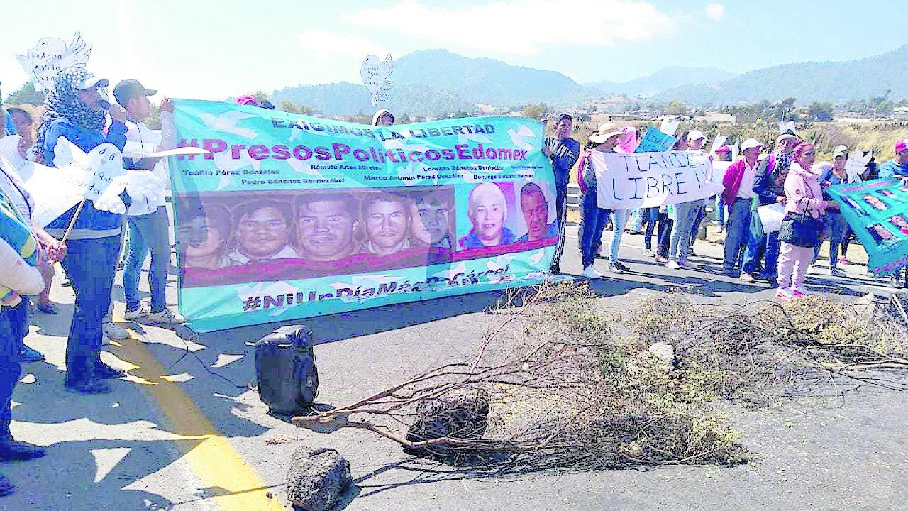 Exigen liberación reos indígenas Tenango del Valle Tlanixco