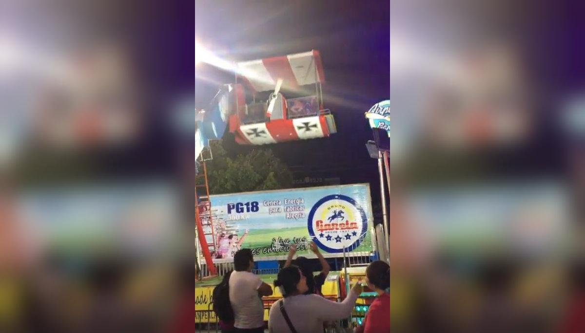 Feria León 2019 juego mecánico niños heridos