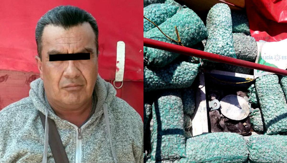 Detienen hombre 15 mil litros combustible oculto piedras Ecatepec