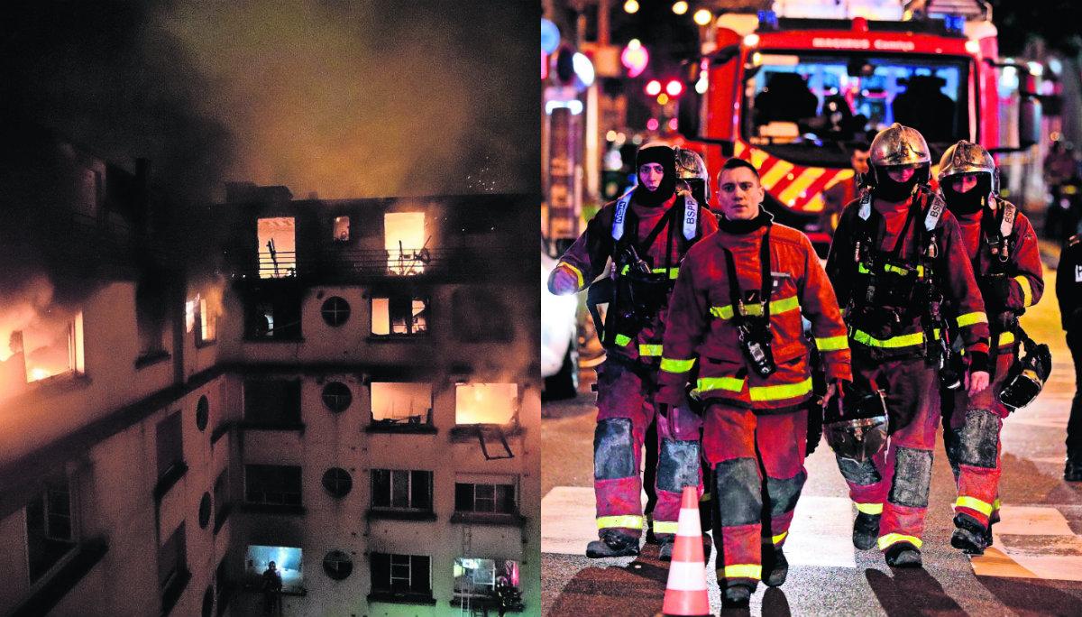 Mujer trastornos mentales incendio mortal Francia