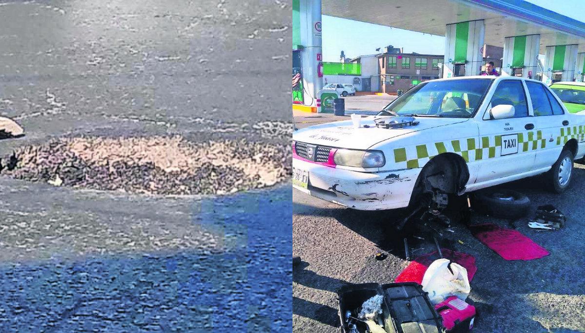 baches coladera afectados daños vehículos paseo tollocan