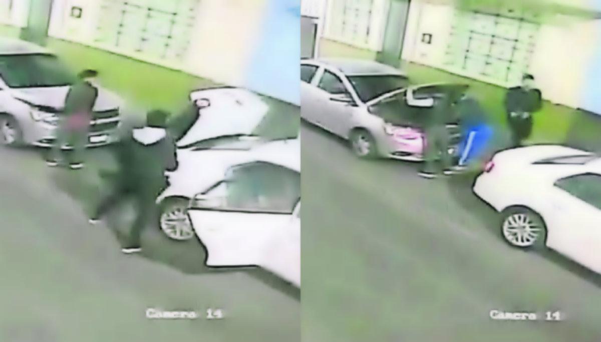 Banda delincuentes desvalijar vehículo Toluca