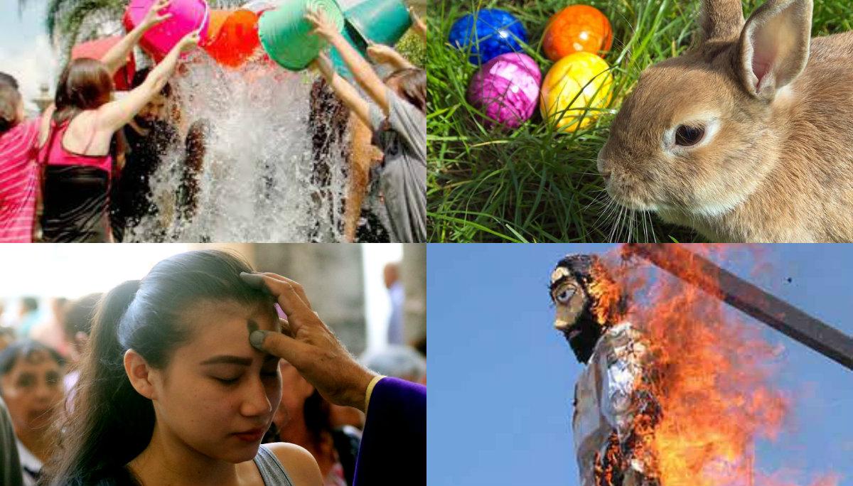 tradiciones de la semana santa pascua conejo domingo de ramos sabado de gloria