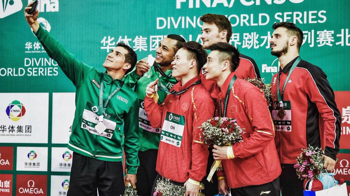 Medalla plata México Rommel Pacheco Jahir Ocampo Serie Mundial de Clavados