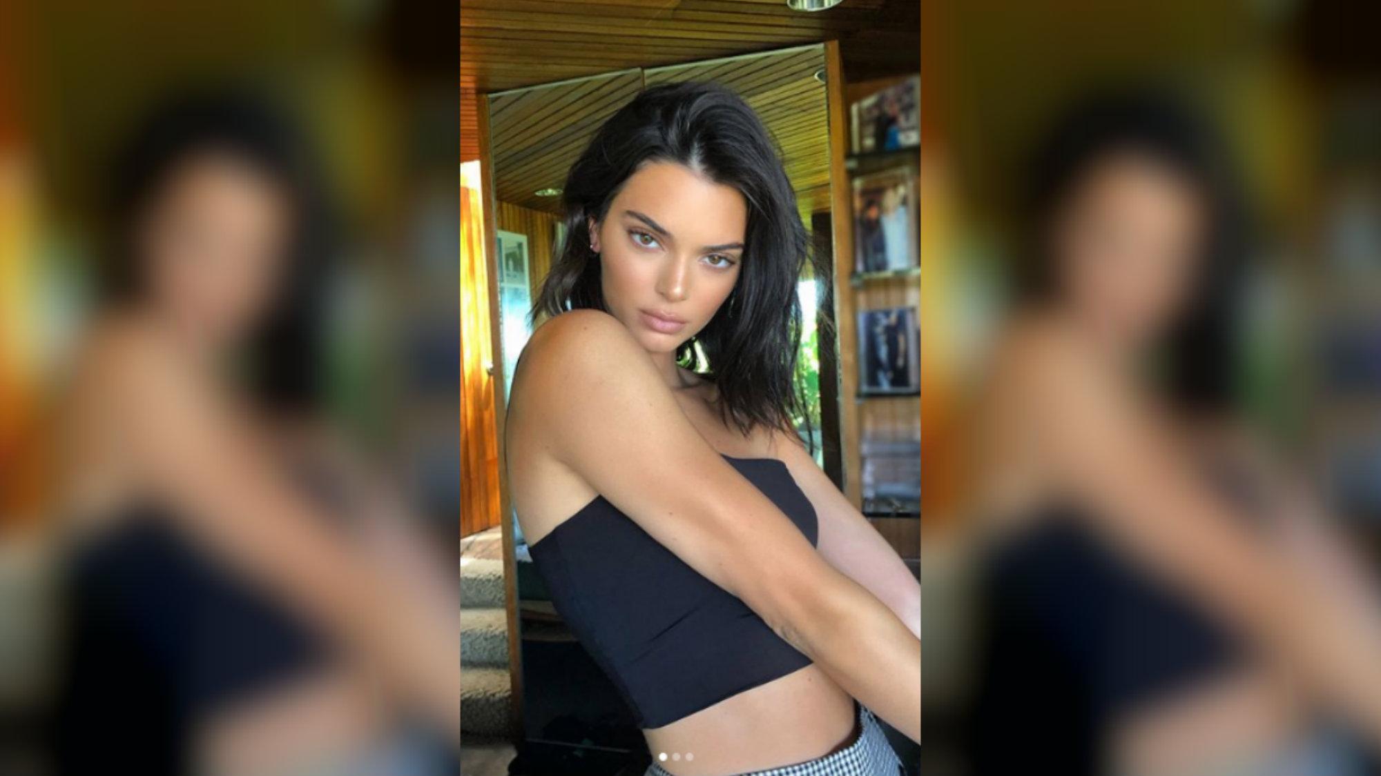 Kendall Nicole Jenner en sexy bikini lencería