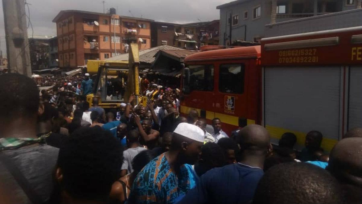 Derrumbe mortal edificio Nigeria Lagos escuela primaria