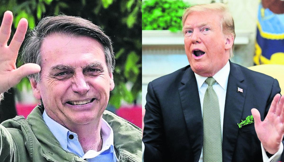 Bolsonaro visita Donald Trump alianza por Venezuela Manifestantes