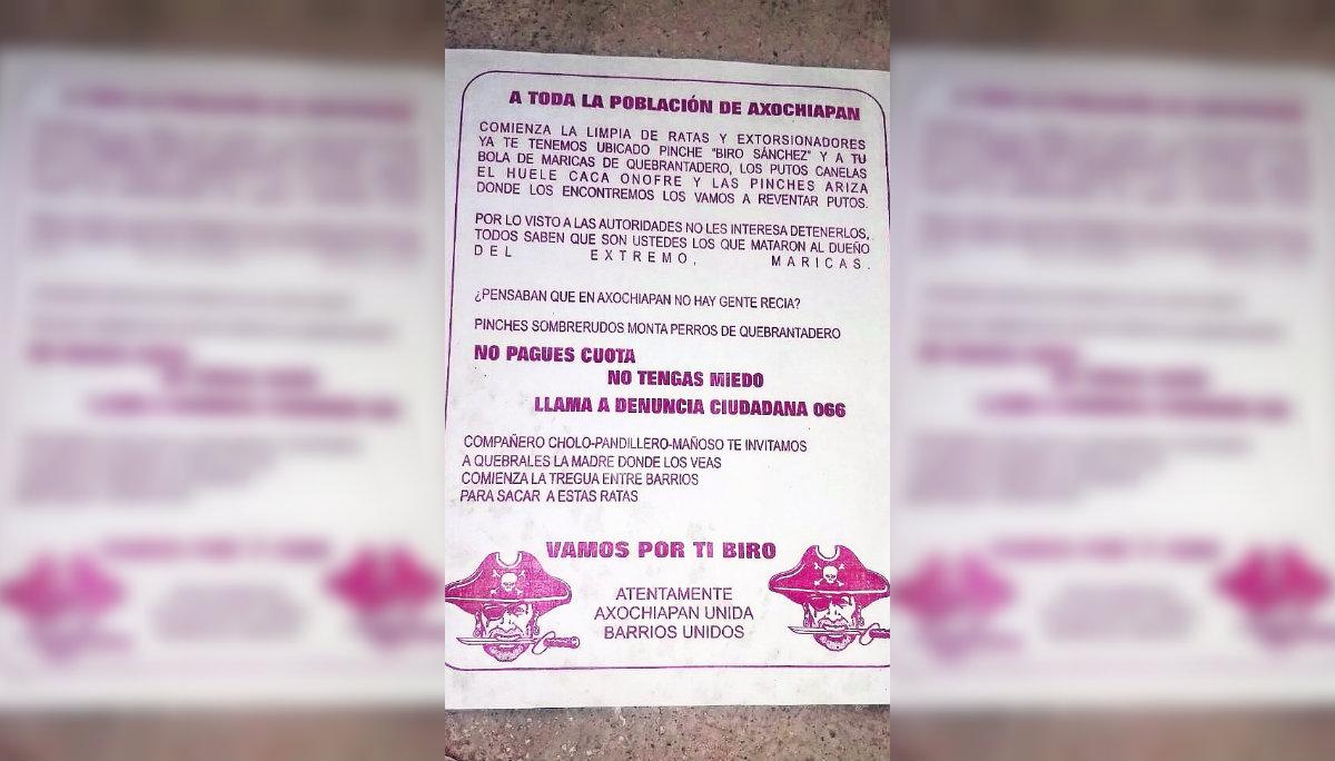 Llamado Convocatoria Acabar con ratas y secuestradores Volante Morelos