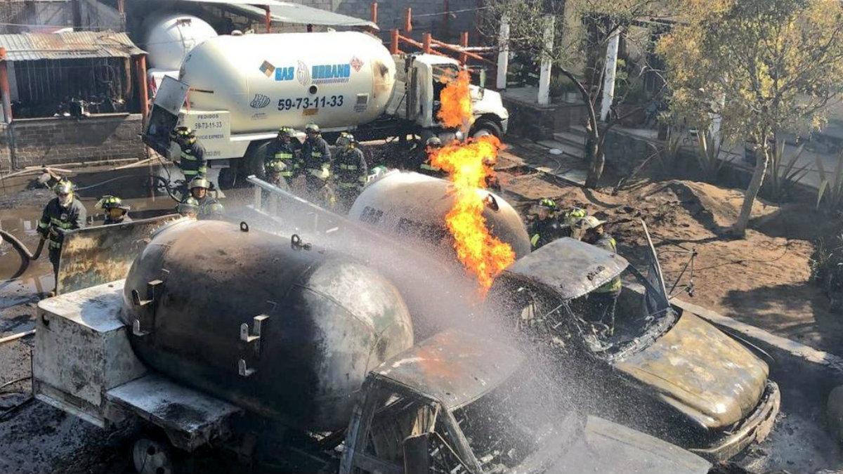 Explosión pipas de gas Milpa Alta