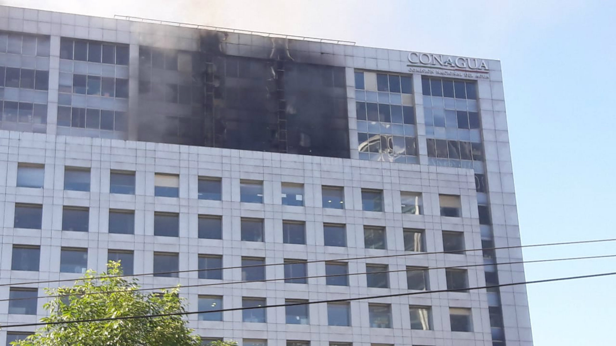 se incendia edificio de Conagua CDMX