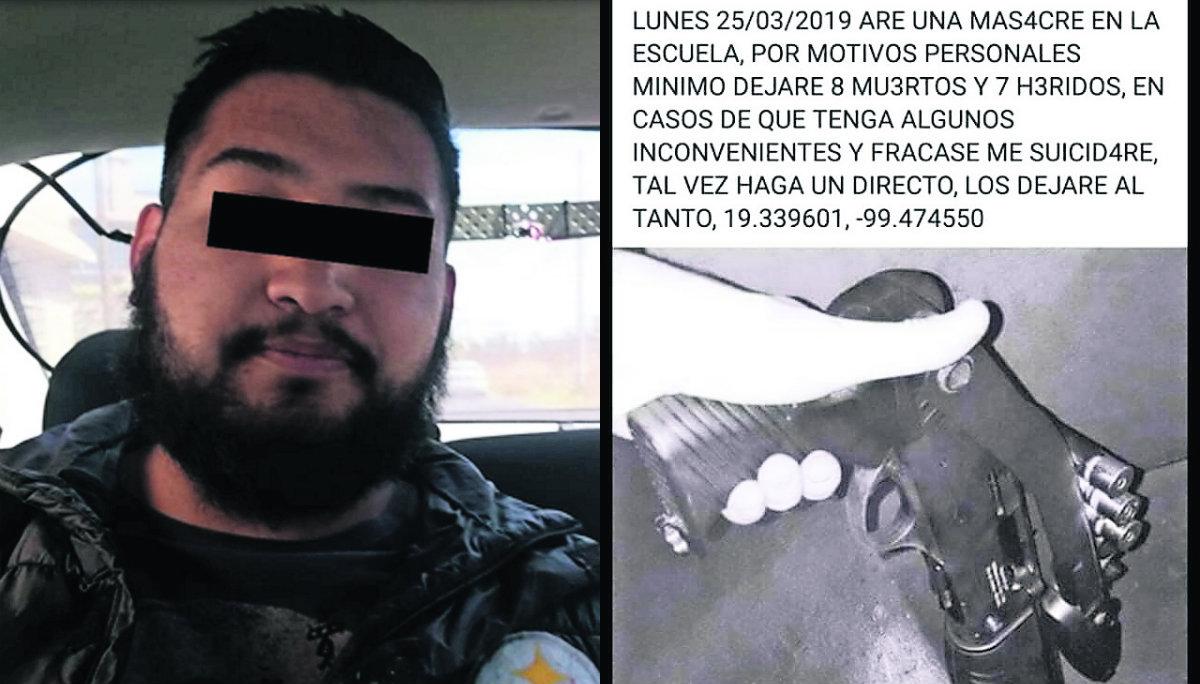 Capturan Amenaza de masacre Toluca