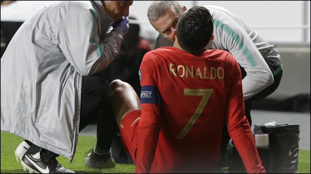 Lesión de Cristiano Ronaldo prende las alarmas en Portugal y Juventus