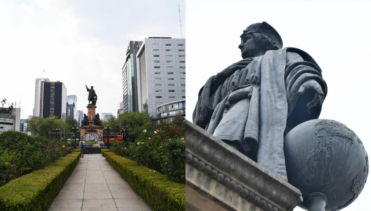 Piden al gobierno CDMX retirar monumentos Cristóbal Colón y Hernán Cortés