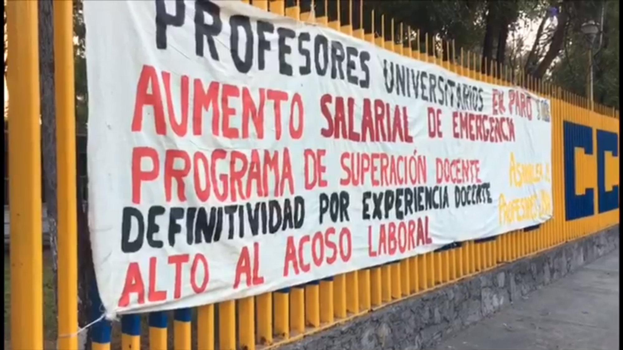 Profesores UNAM Paro laboral Exigen aumento salarial