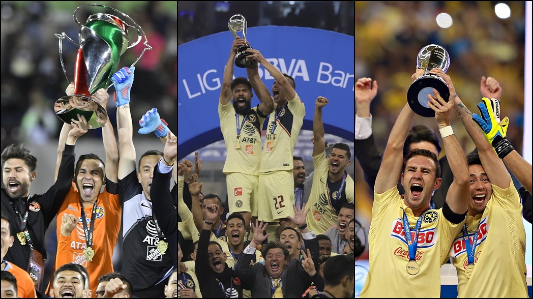 Los títulos profesionales de América y Chivas