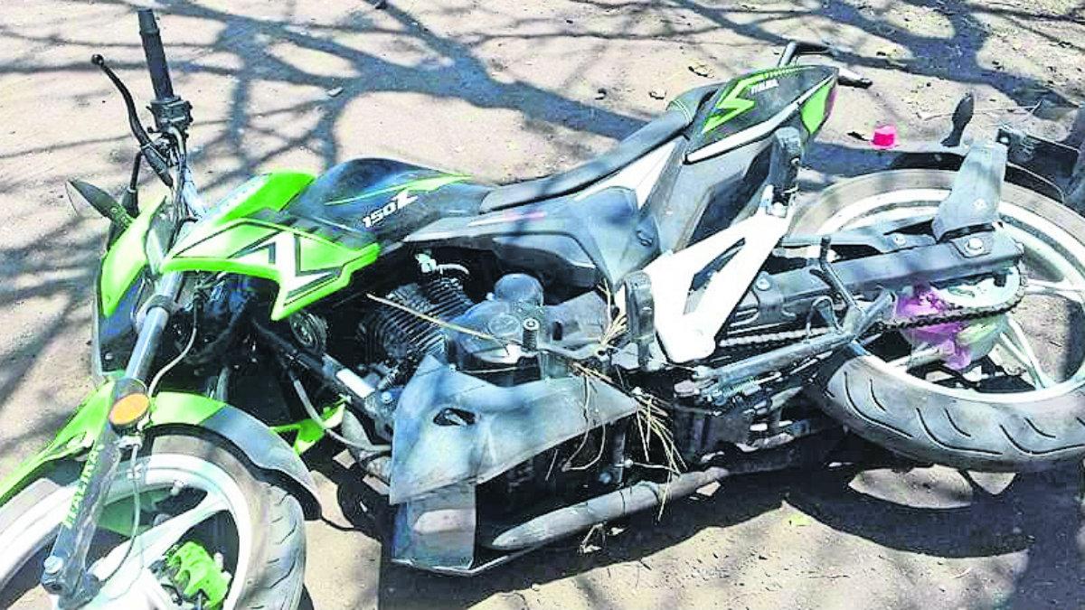 motociclista muere bolsa de plástico atorada en moto