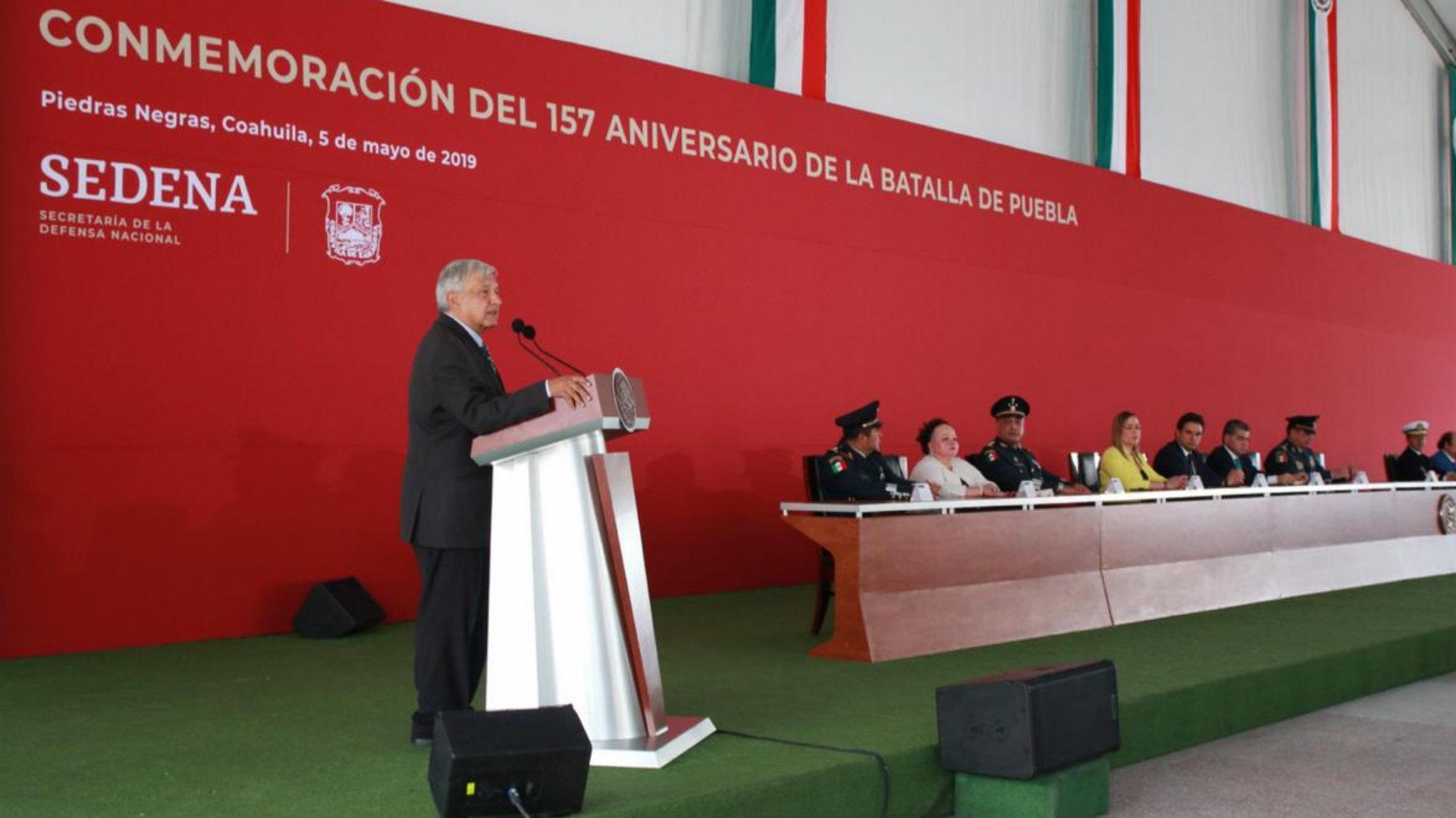 AMLO Batalla de Puebla Piedras Negras Coahuila Servicio Militar Nacional