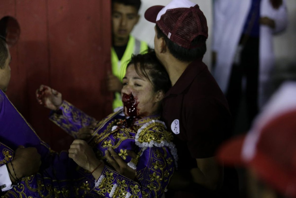 La torera Hilda Tenorio tiene más lesiones de lo que se esperaba