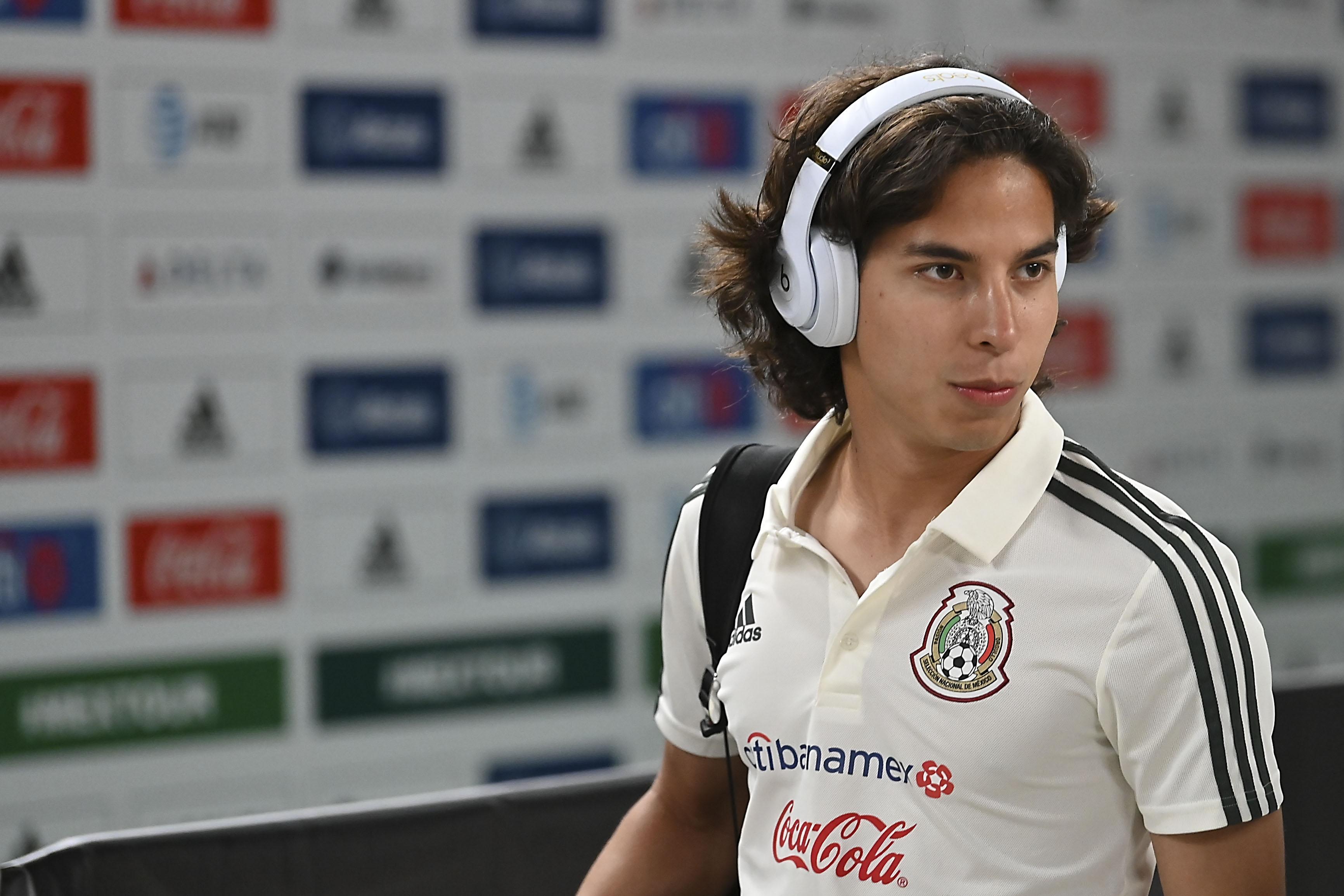 Diego Lainez da un susto en la Selección Sub 20
