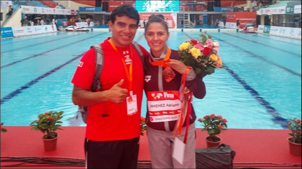 Adriana Jiménez, sube al podio en Mundial de clavados