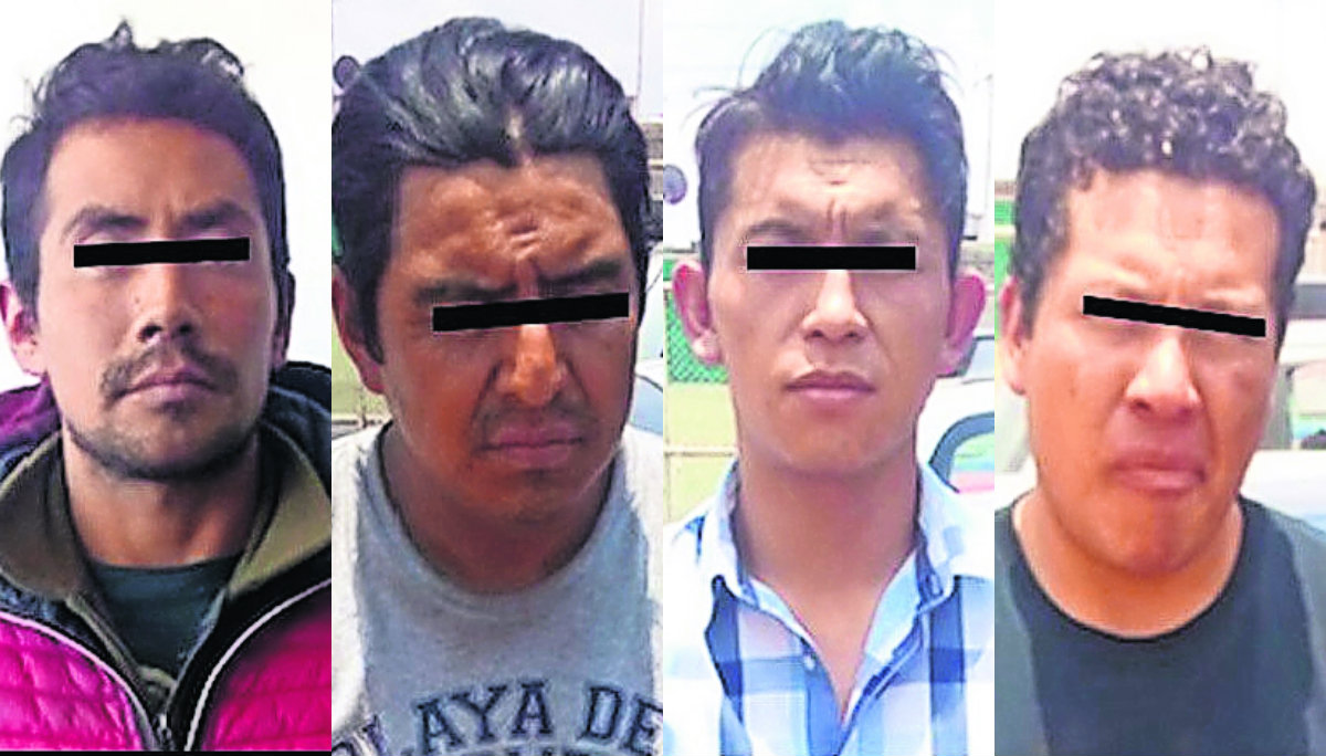 detienen ladrones taxi cuatro hombres calimaya