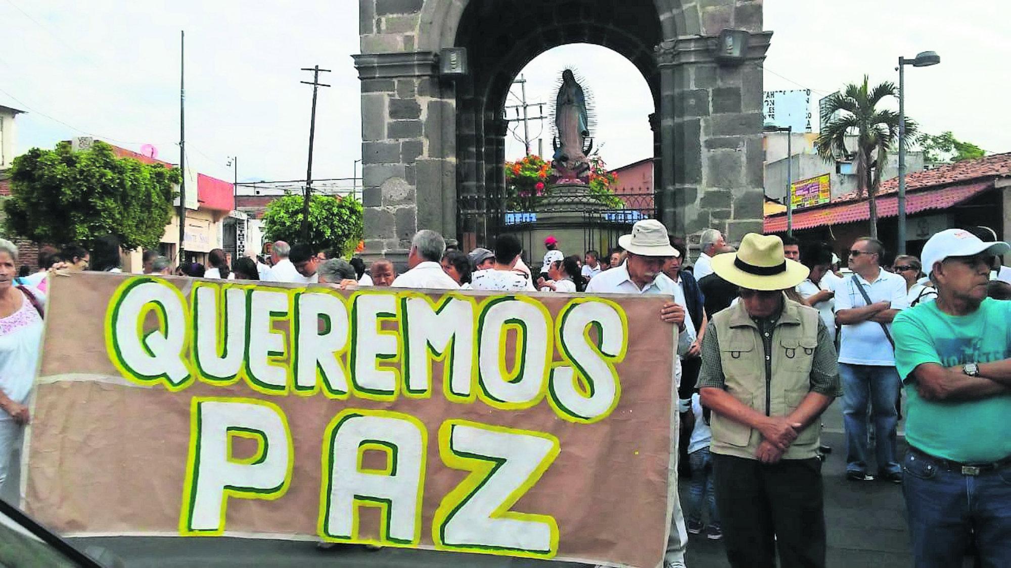 Marcha por la paz Cobro de piso Delincuencia organizada Morelos