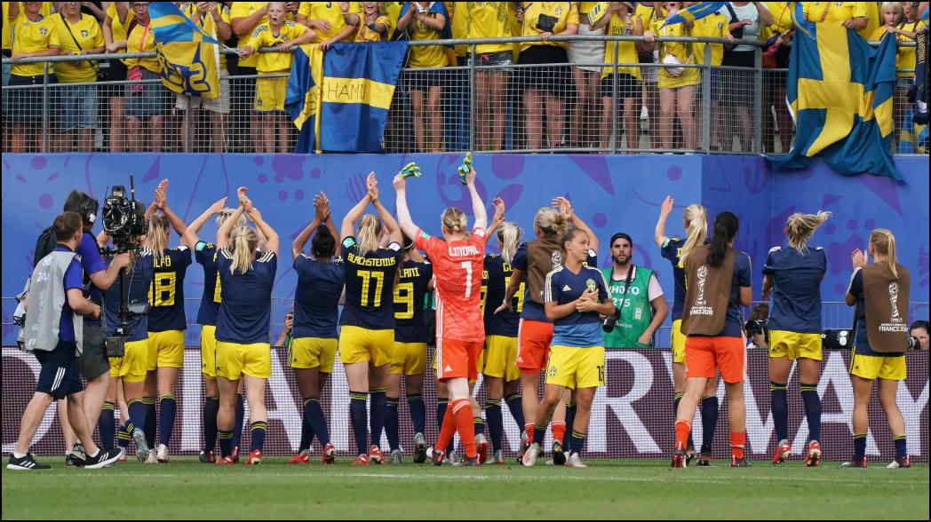 Suecia elimina a Alemania y está en semifinales del Mundial Femenil