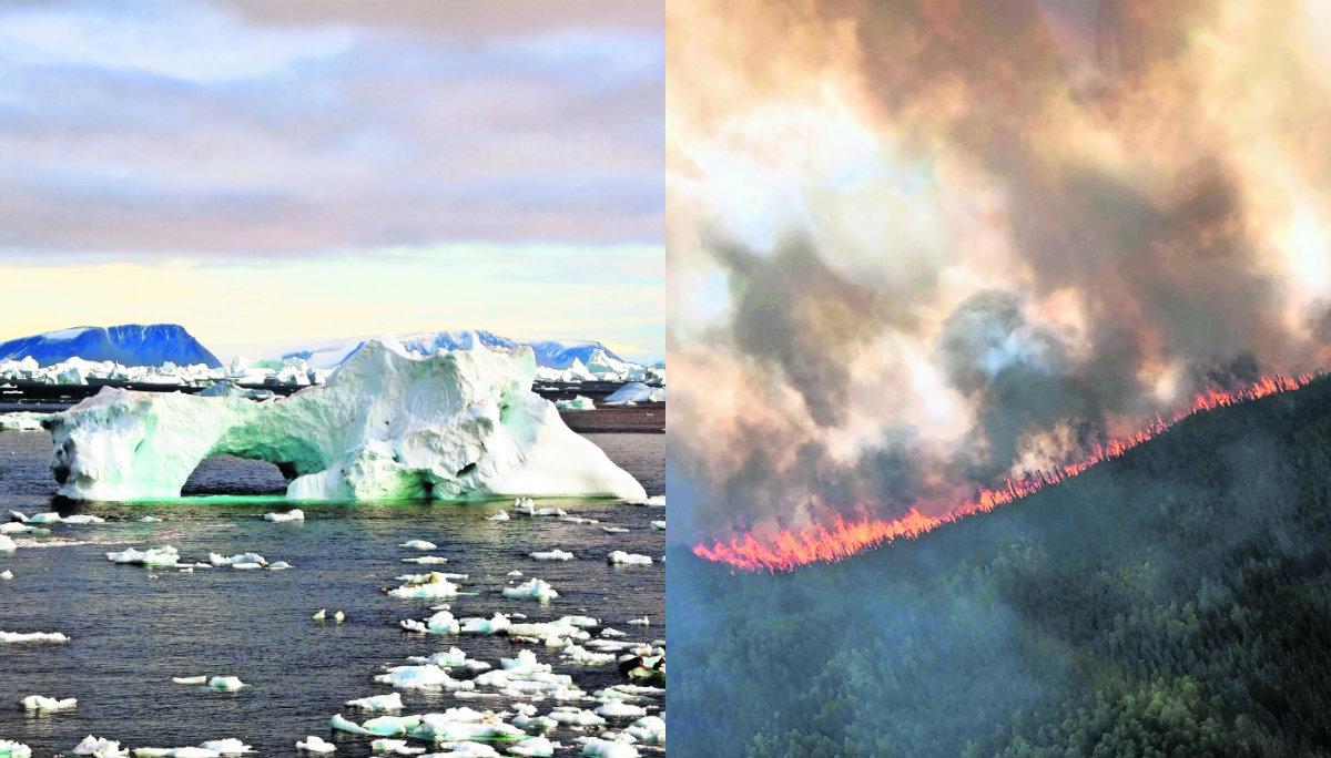 cambio climático calentamiento global derrite glaciar hielo alaska