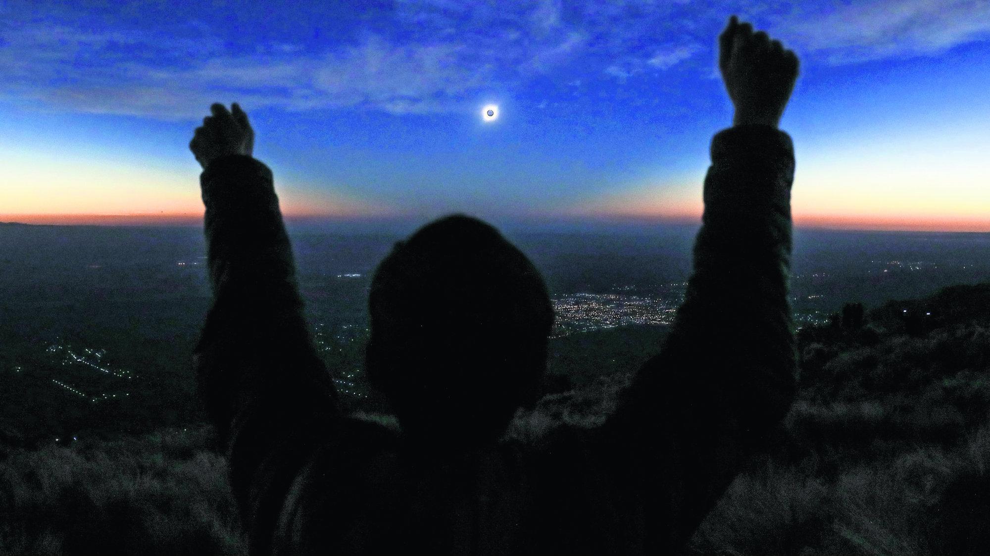 Eclipse solar Argentina Chile Fotografías