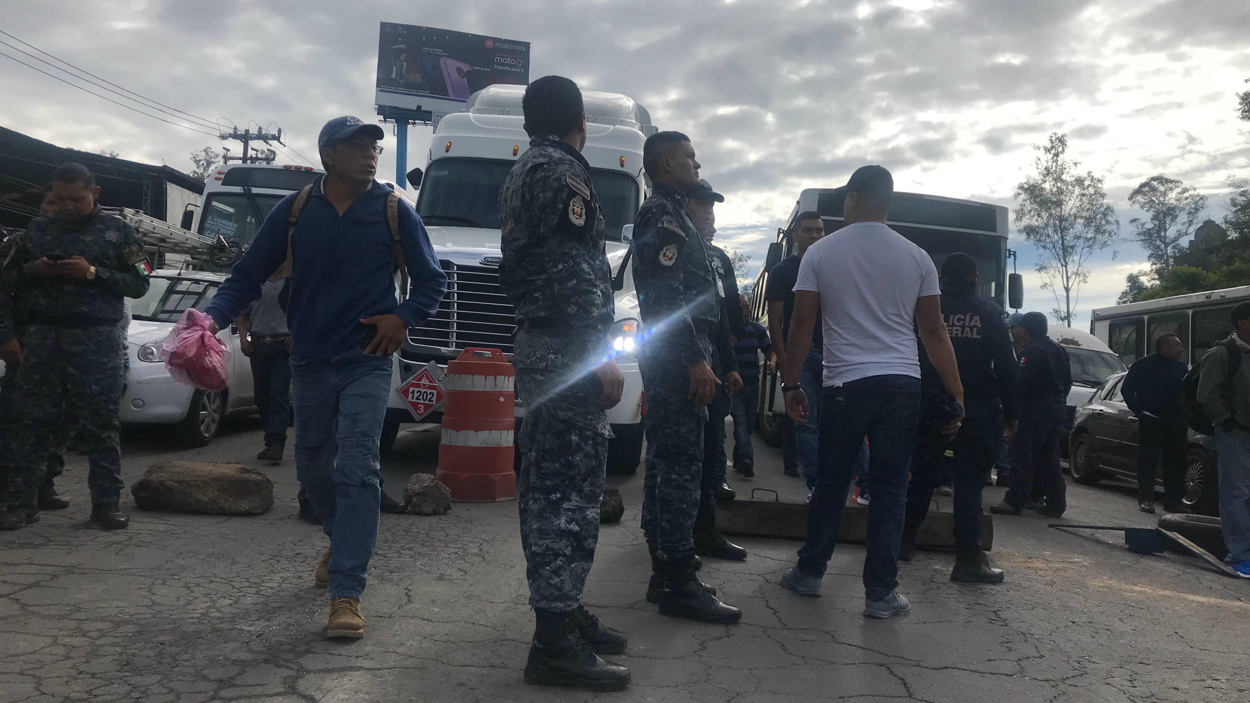 policia federal guardia nacional bloqueo cdmx edomex