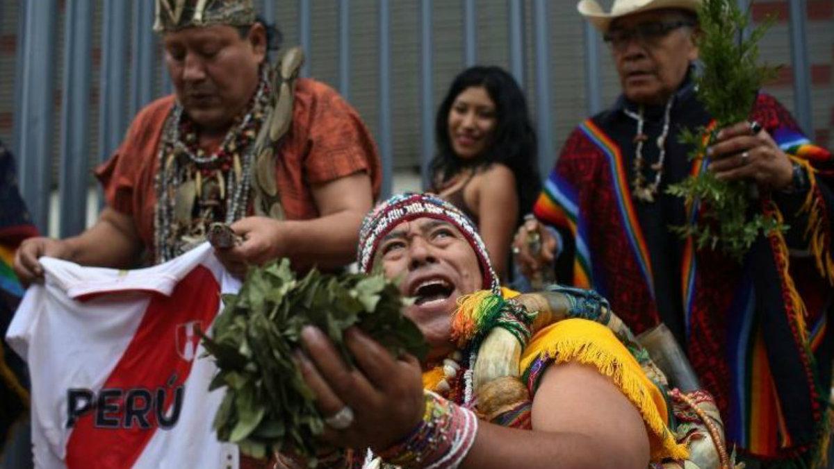 ritual perú chile partido chamanes brujos juego copa américa