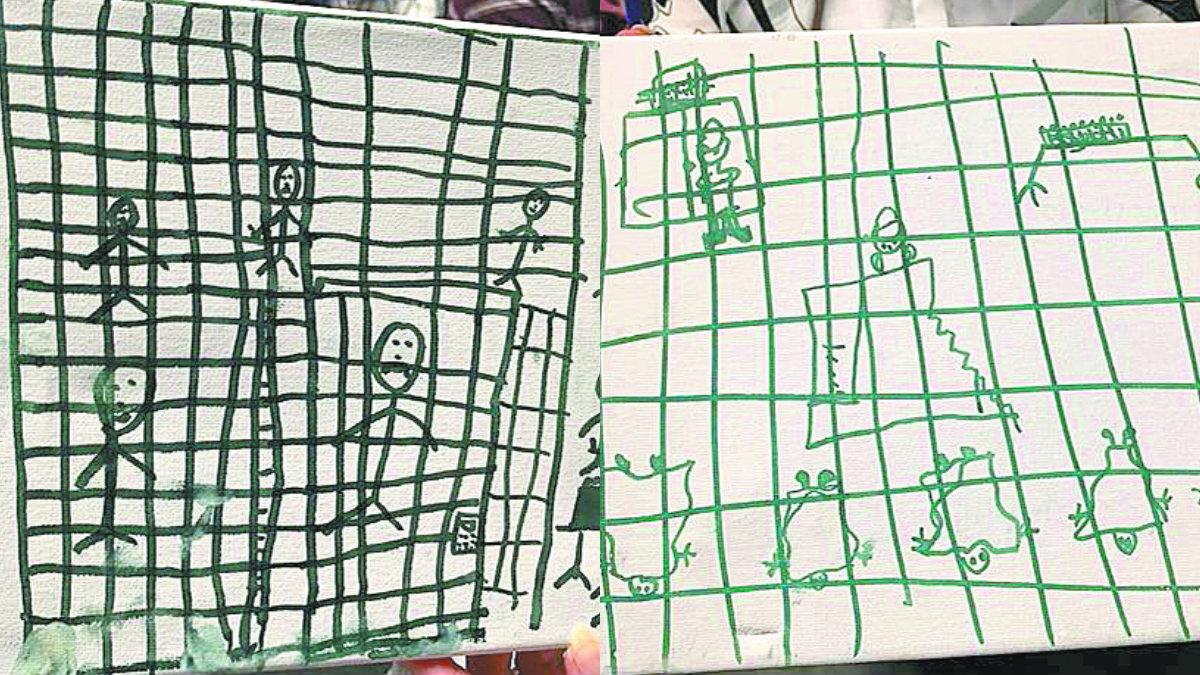 Niños migrantes reflejan traumas
