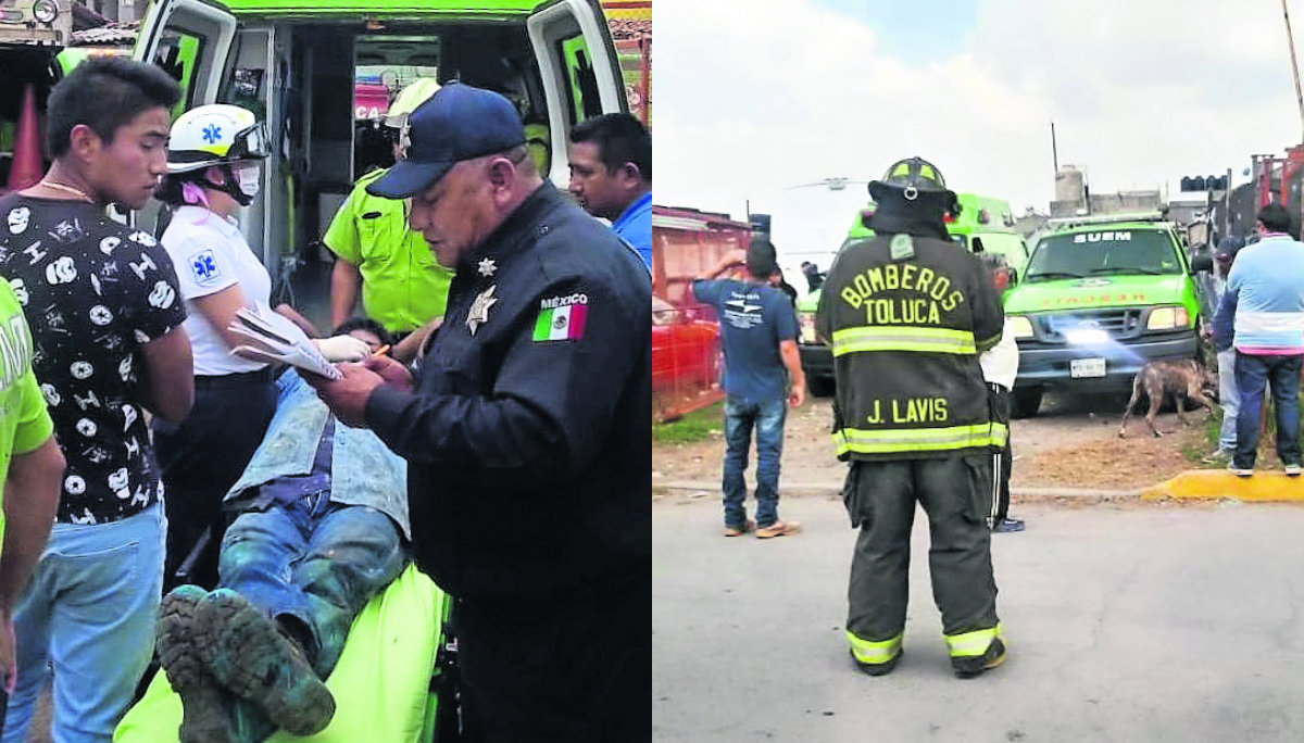Tres trabajadores quedaron atrapados