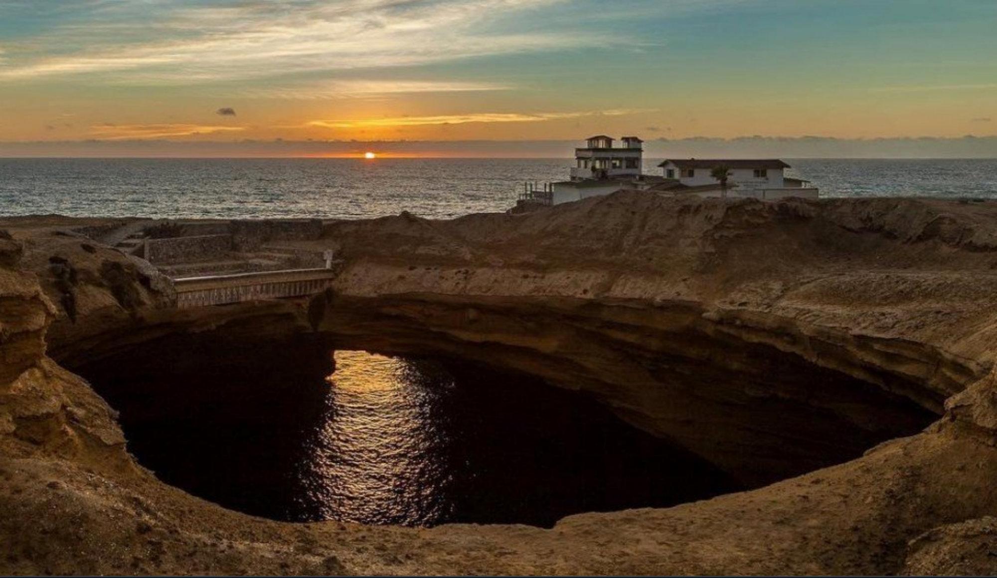 Caen de acantilado La Lobera Baja California Niño desaparecido