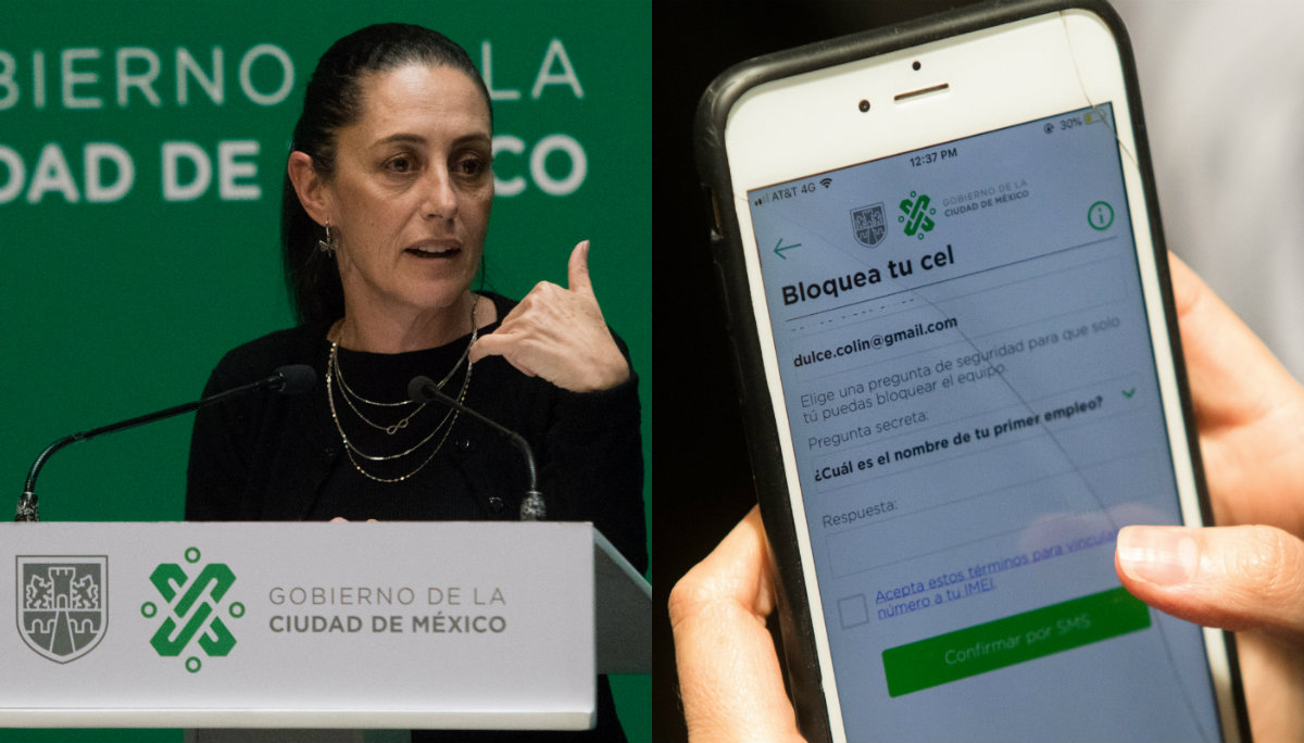 claudia sheinbaum presenta estrategia combatir robo celulares IMEI jefa de gobierno prohiben venta tianguis CDMX