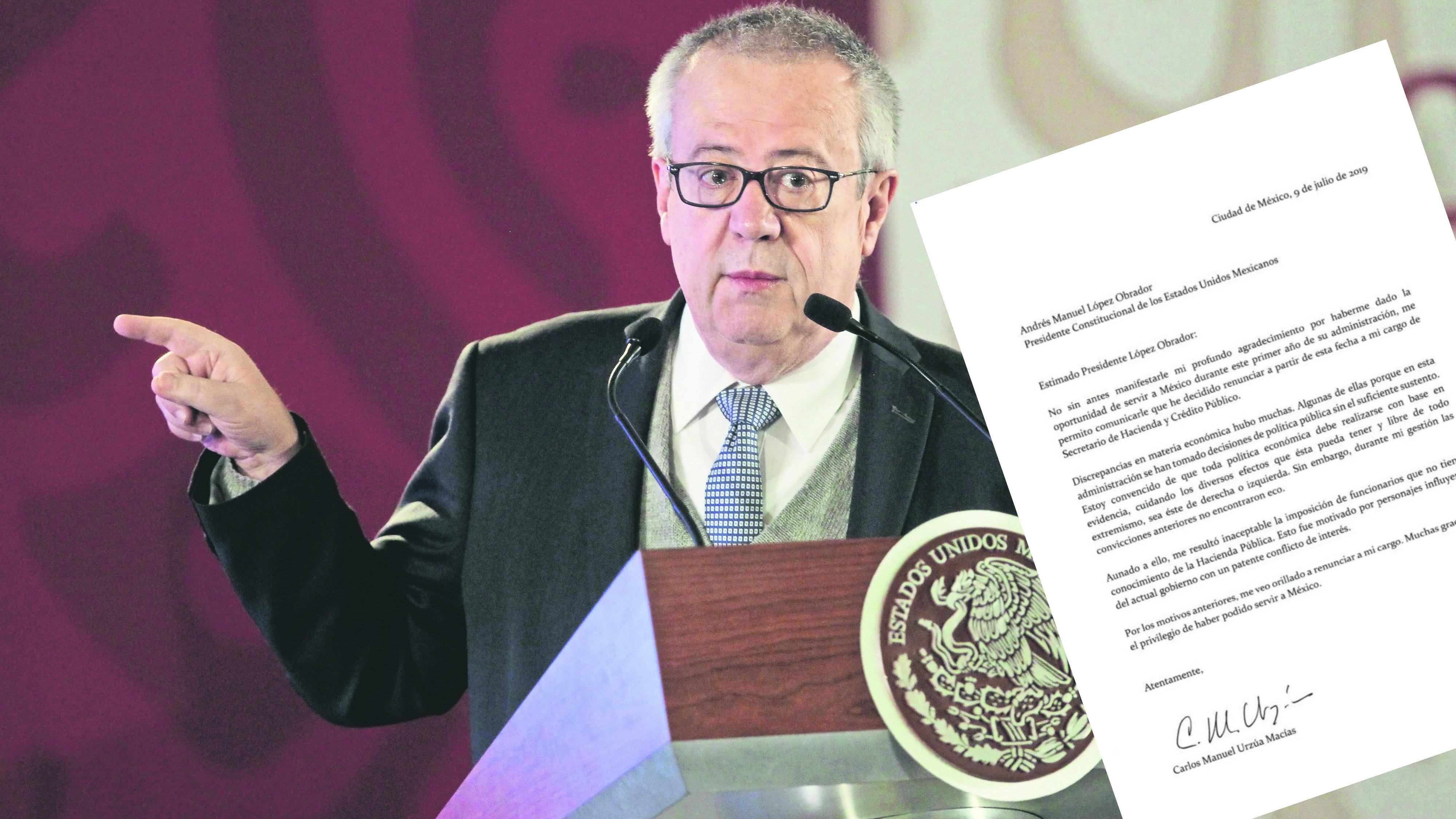 CARLOS URZUA RENUNCIA SECRETARIA DE HACIENDA MEXICO