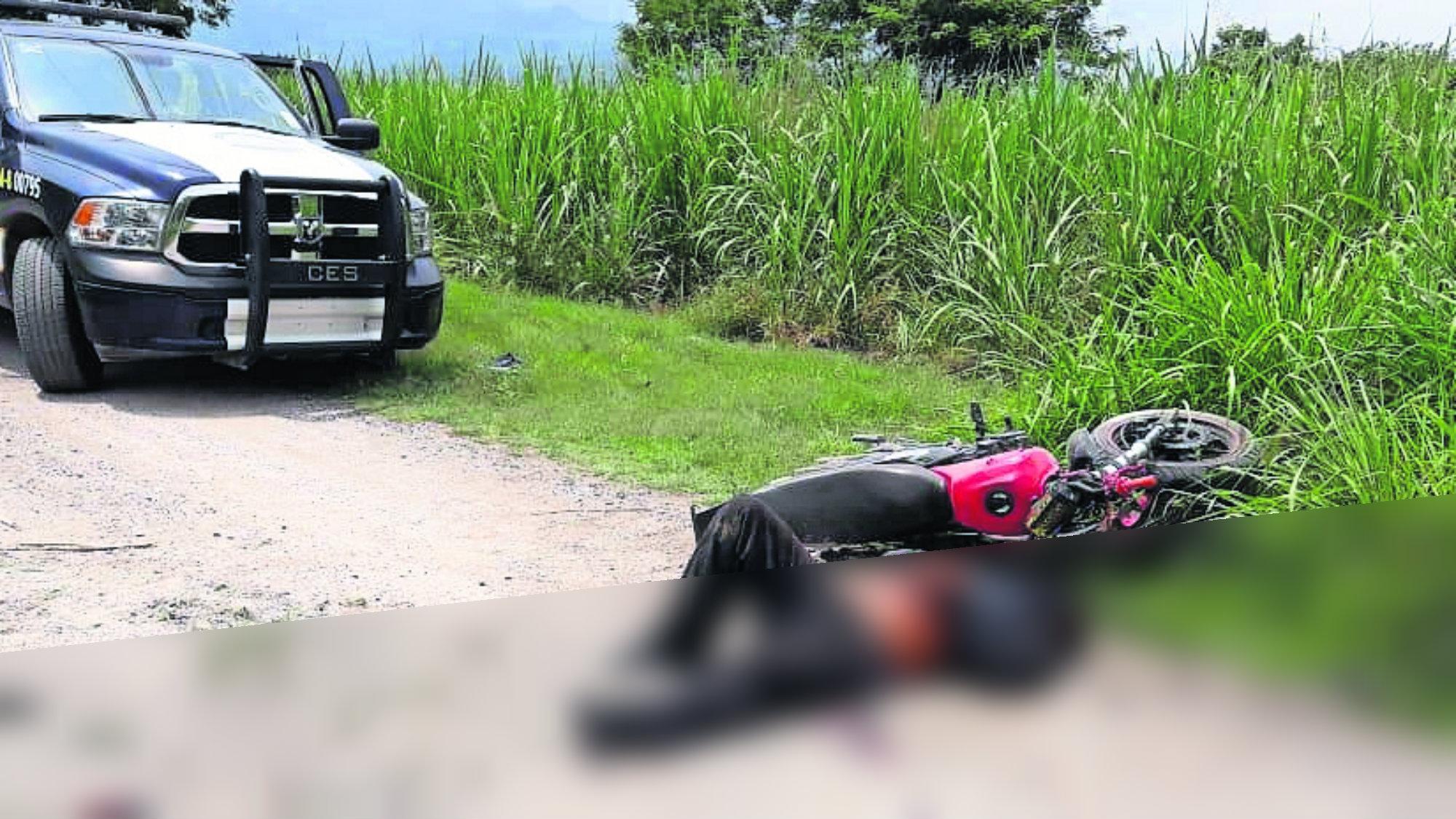 Motosicarios derrapan Asesina muerta Homicidas muertos Morelos