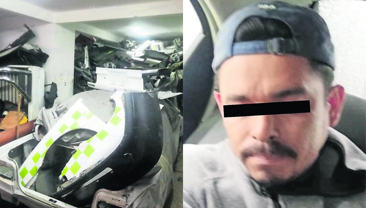 capturan robacoches ladrón autos taller casa demantelaba vehículos robados reporte de robo Gilberto